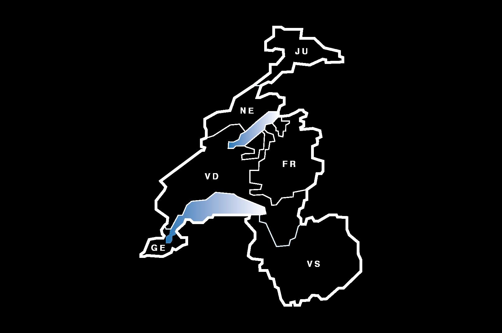 Plan du canton de Fribourg